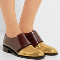 Marni - Metallic-paneled leather brogues