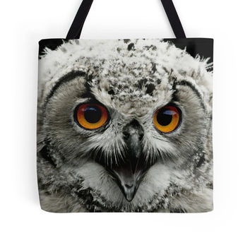 Owl bag, owl tote, animal bag, animal tote, lightweight bag, yoga bag, market bag, shoulder bag, grocery tote, shopping bag, market tote