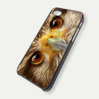 Brown Owl Bird Eyes iPhone 5s iPhone Case and Samsung Galaxy Case