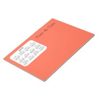 2015 Calendar Save the Date Tomato Red Notepad
