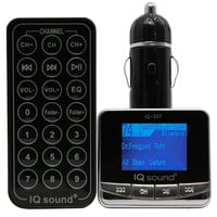 """Supersonic Wireless FM Transmitter With 1.4"""" Display-USB and SD Card-SD-MMC card, USB Flash-Plays MP3-WMA- Silver"""