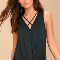 Olive & Oak Otis Charcoal Grey Tank Top