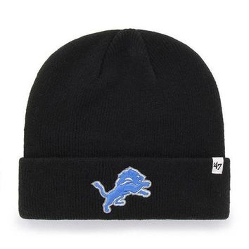 ONETOW NFL Detroit Lions Raised Cuff Knit Beanie