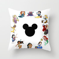Time To Be A Princess (Anna) Throw Pillow by Katie Simpson