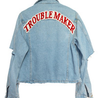TROUBLE MAKER DENIM JACKET | HIGH HEELS SUICIDE