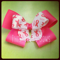 Pink Breast Cancer Awareness Hair Bow