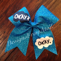 The Fault in Our Stars inspired Cheer Bow