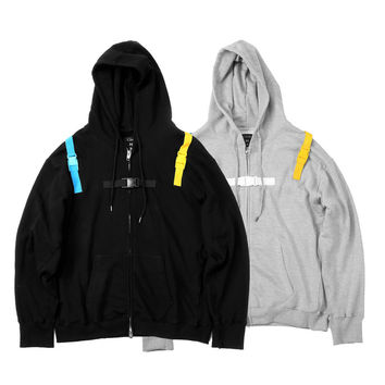 "15FW ""AGAINST ALL AUTHORITY"" SLOGAN ZIP-UP"