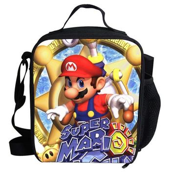 Super Mario party nes switch 2017  Cute Cartoon Bag  Cooler Lunch Bag For Kids School Boys Girls Thermal Lunch Bags For Kids Children Gifts AT_80_8