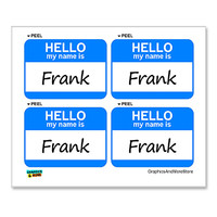 Frank Hello My Name Is - Sheet of 4 Stickers
