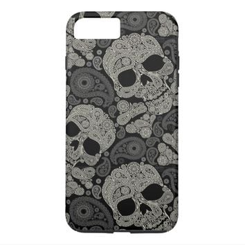 Sugar Skull Pattern Tough iPhone 7 Plus Case