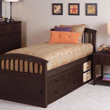 Asher Twin Size Captains Bed
