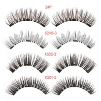 1 Set Full Coverage 3D Triple Magnetic False Eyelashes Glue-Free Magnet Eye Lashes Extension Makeup Tools Wimpers