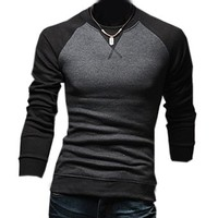 Partiss Mens Contrast Color Pullover T-shirt