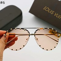 LV Louis Vuitton 2018 new personalized frog mirror sunglasses F-A-SDYJ #6