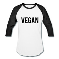 Vegan, Unisex Baseball T-Shirt