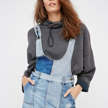 Free People Patchwork Blues One Piece Mini