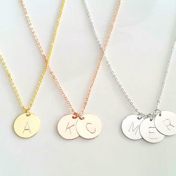 Custom Initial Plate Necklace IV