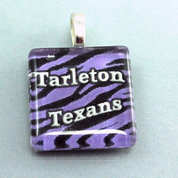 Tarleton Glass Pendant, Baylor, Texas Tech, Texas A&M