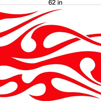Tribal Flame Auto Truck Boat Car Stickers  Decals Side Sets tf00