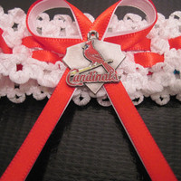 Urban Garter Baseball Series St. Louis Cardinals . I can make most team colors with Officially  Lic. Charms
