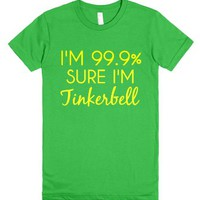i'm 99.9% sure i'm tinkerbell-Female Grass T-Shirt