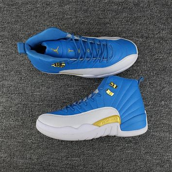2017 new color sky blue men air jordan 12 retro sneaker