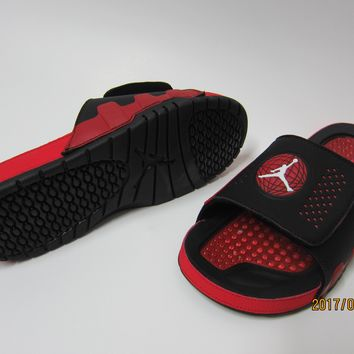 Nike Jordan Hydro IX Black/Red Sandals Slipper Shoes Size US 7-13