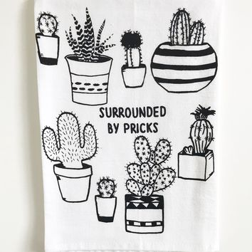 The Coin Laundry - Surrounded by Pricks Cotton Kitchen Towel