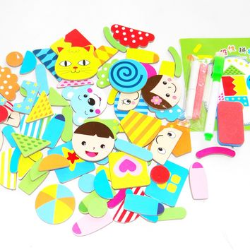 Funny Baby Educational Toys Wooden Magnetic Puzzle Jungle Animal Children Kids Jigsaw Baby Drawing Color Perception Learning Toy