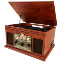Classic 6-in-1 Turntable Music Center with Bluetooth - E227162 — QVC.com