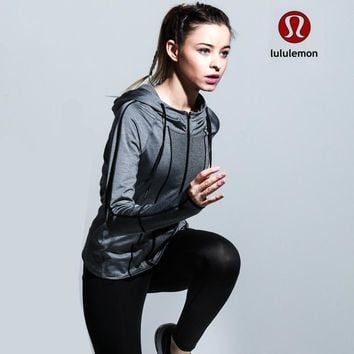 Lululemon Women Fashion Gym Yoga Cardigan Jacket Coat