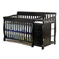 Dream On Me Brody 4-in-1 Convertible Crib with Changer - Black