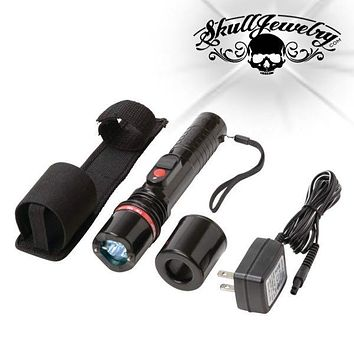 Rechargeable 300,000v Heavy-Duty Stun Gun & Flashlight (stungun02)