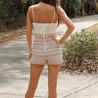 Native Lines Romper, Ivory