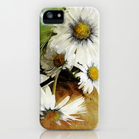 Daisies and Buttercups 2 - Susan Weller iPhone & iPod Case by Susan Weller