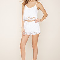 Floral-Embroidered Shorts | Forever 21 - 2000170377