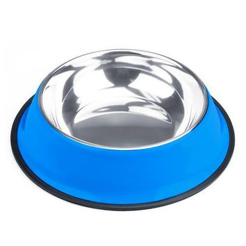 40oz. Blue Stainless Steel Dog Bowl