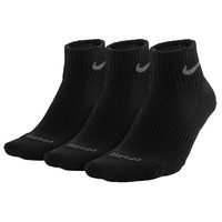 Nike 3PK Dri-FIT 1/2 Cushion Quarter Socks - Men's at Foot Locker