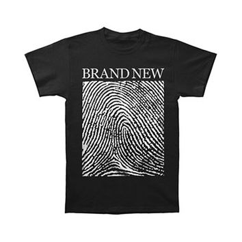 Brand New Men's  Fingerprint T-shirt Black Rockabilia