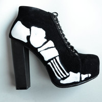 MARTIANWHO Women's Skeleton Heels
