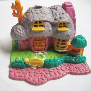 Vintage 1994 Polly Pocket Rabbit House Animal Wonderland Bluebird Bianca's Burrow Miniature Toy NO Figures Clean USED