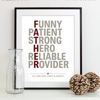 Fathers Day Gift for Dad Gift - Personalized Gift for Him for Men - Wedding Gift for Parents - Gift for Father of the Bride Gift