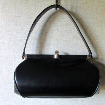 Mad Men Purse Dofan Handbag Vintage 50s 60s Baguette Bag Top Han