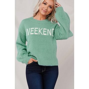 Cozy Weekend Sweater (Mint)