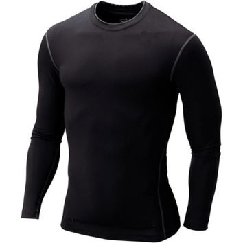 Mens Boys Compression Body Base Layer Thermal Under Top Long Sleeve  Shirt Skins Gear Cool Dry Size S-XXXL Free Shipping