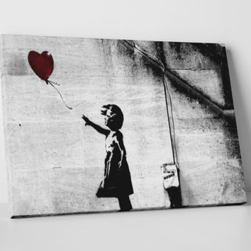 Girl With Balloons by Banksy Gallery Wrapped Canvas Print