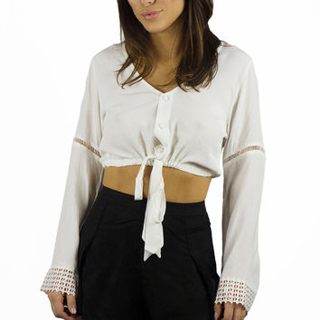 Sea Dreamer Chloe Crop Top White