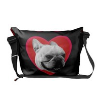 Valentine's French Bulldog Commuter Bag from Zazzle.com
