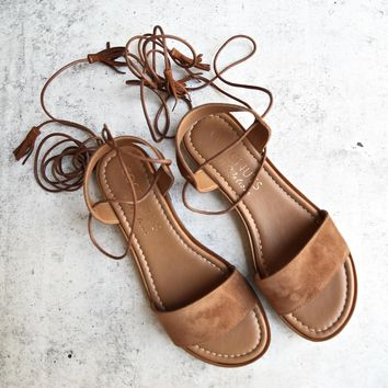 coconuts by matisse - sting - wraparound lace sandal - saddle